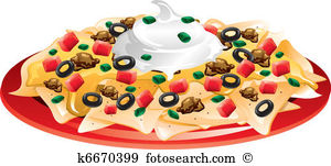 Nachos Clip Art Vector Graphics. 809 nachos EPS clipart vector and.
