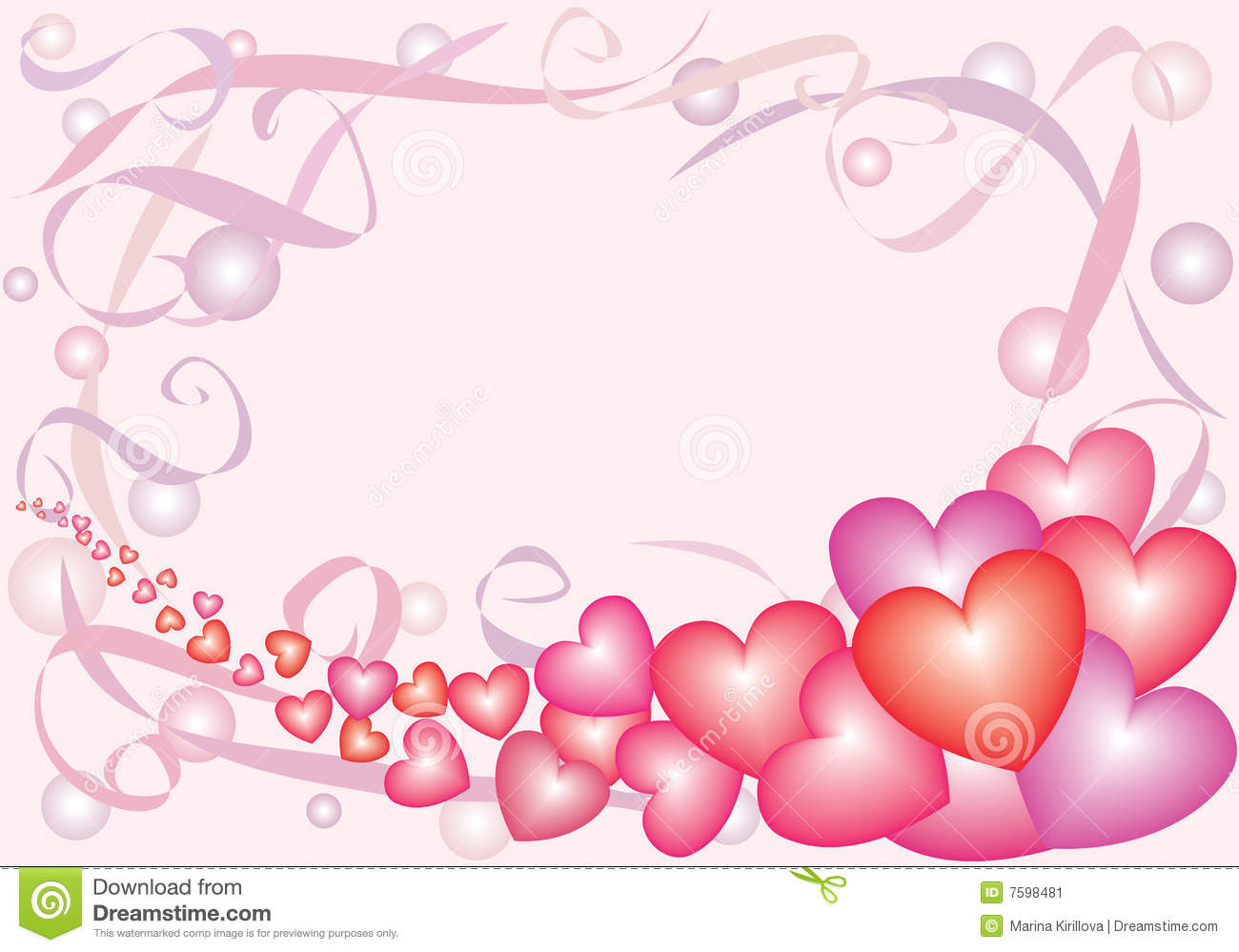 Nacreous Hearts 2 Stock Image.