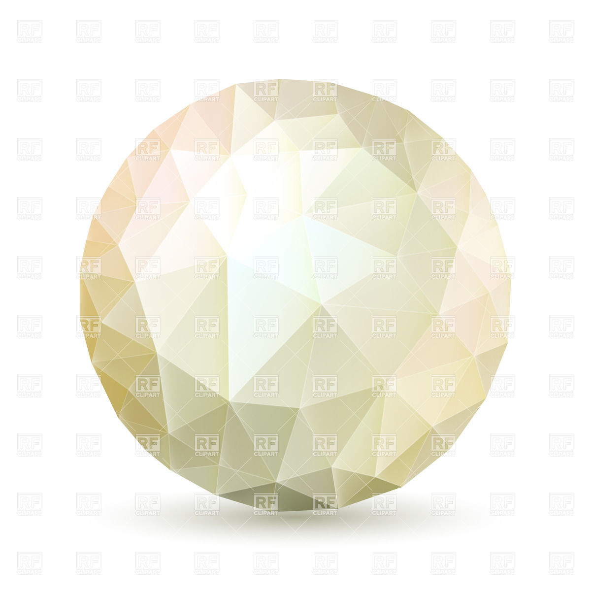 Abstract polygonal nacreous sphere Vector Image #34847.