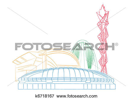 Clip Art of World Olympic Objects.