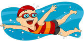 Stock Illustration of Boy swimming k3981246.