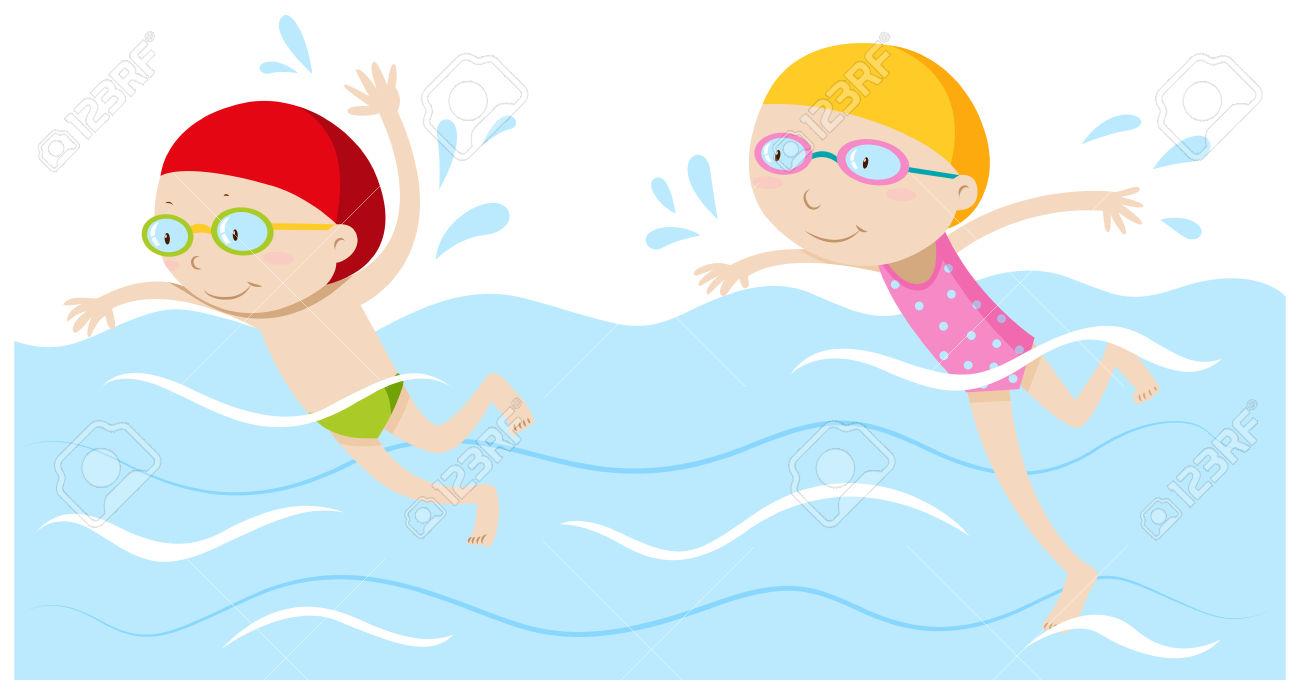 Nager clipart clipground - Nager en piscine avec des palmes ...