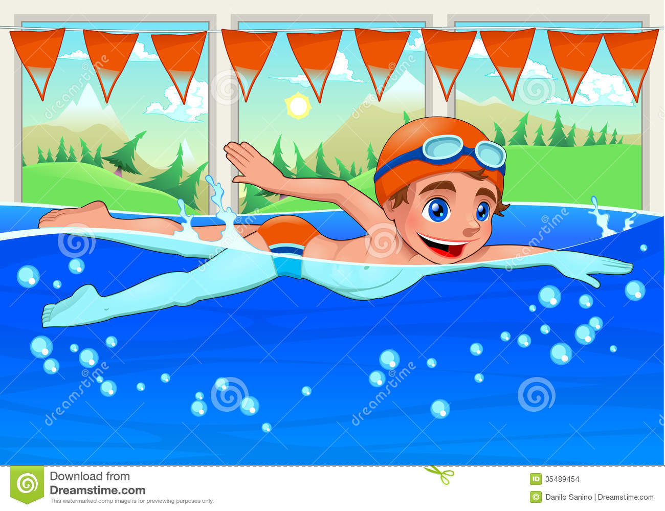 Swimmer Stock Illustrations.