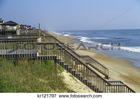 Picture of Nags Head Nc Beach Houses On High Dunes kr121797.