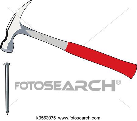 Nail and hammer Clipart.