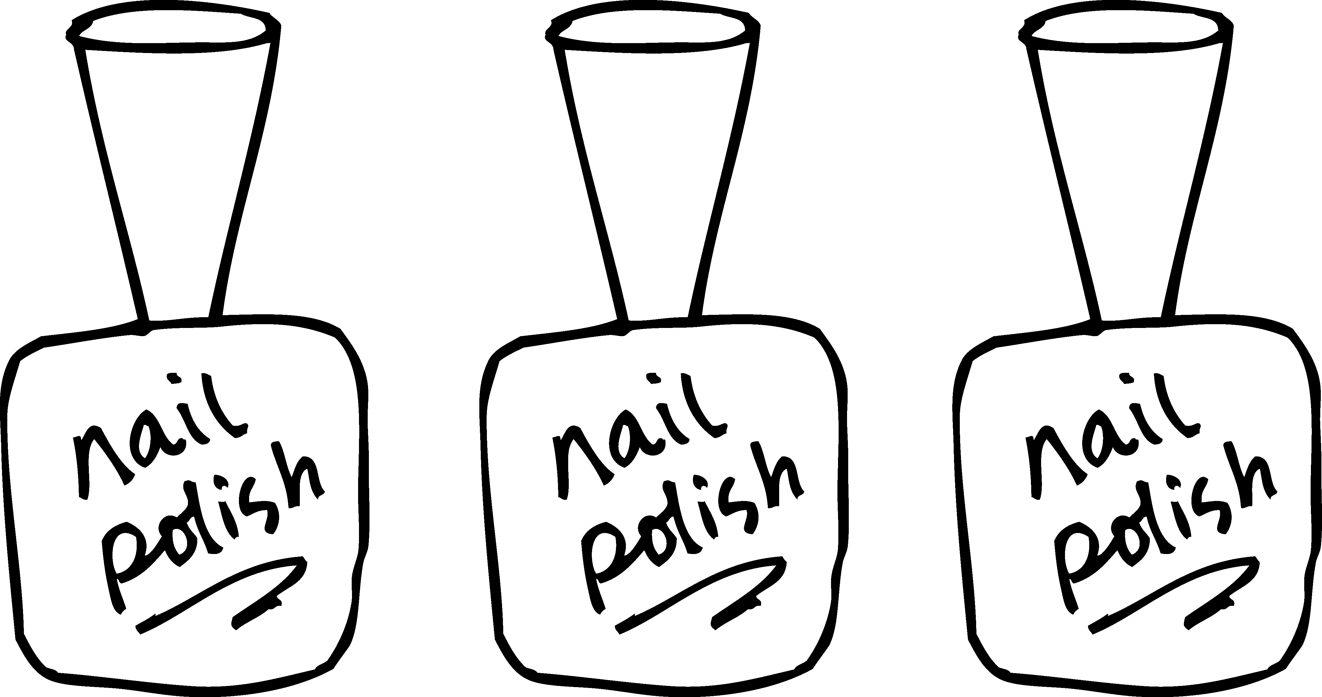 Images For > Nail Salon Clipart Black And White.