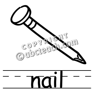 Nail Black And White Clipart #.