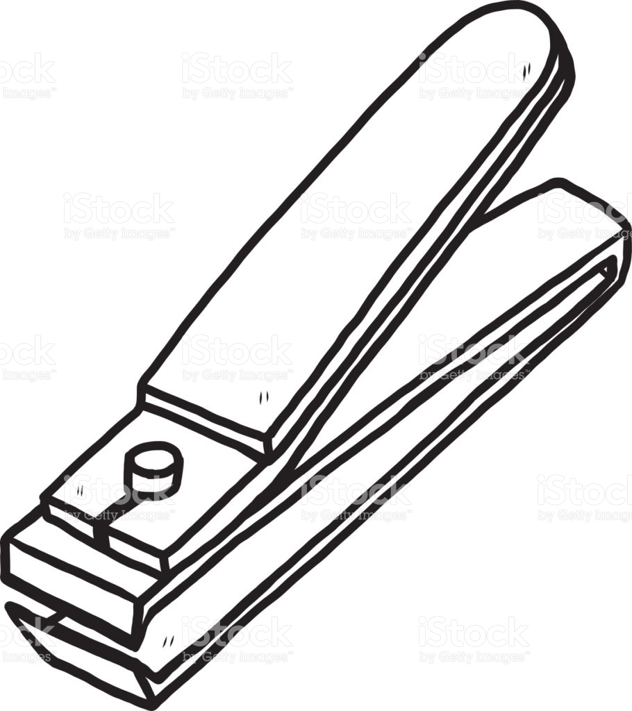 Nail Cutter Clipart Black And White.