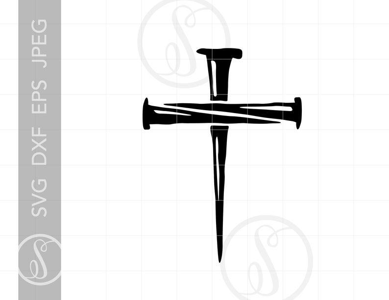 Nail Cross SVG.