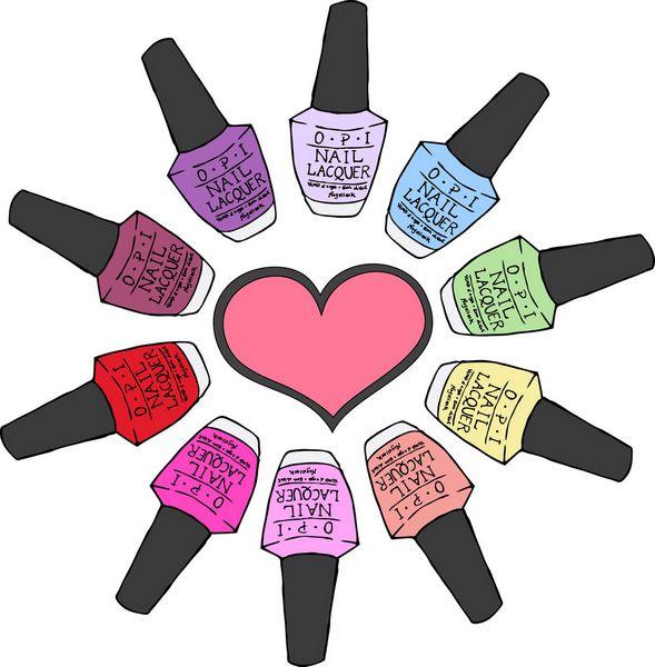 Free nail polish clipart.