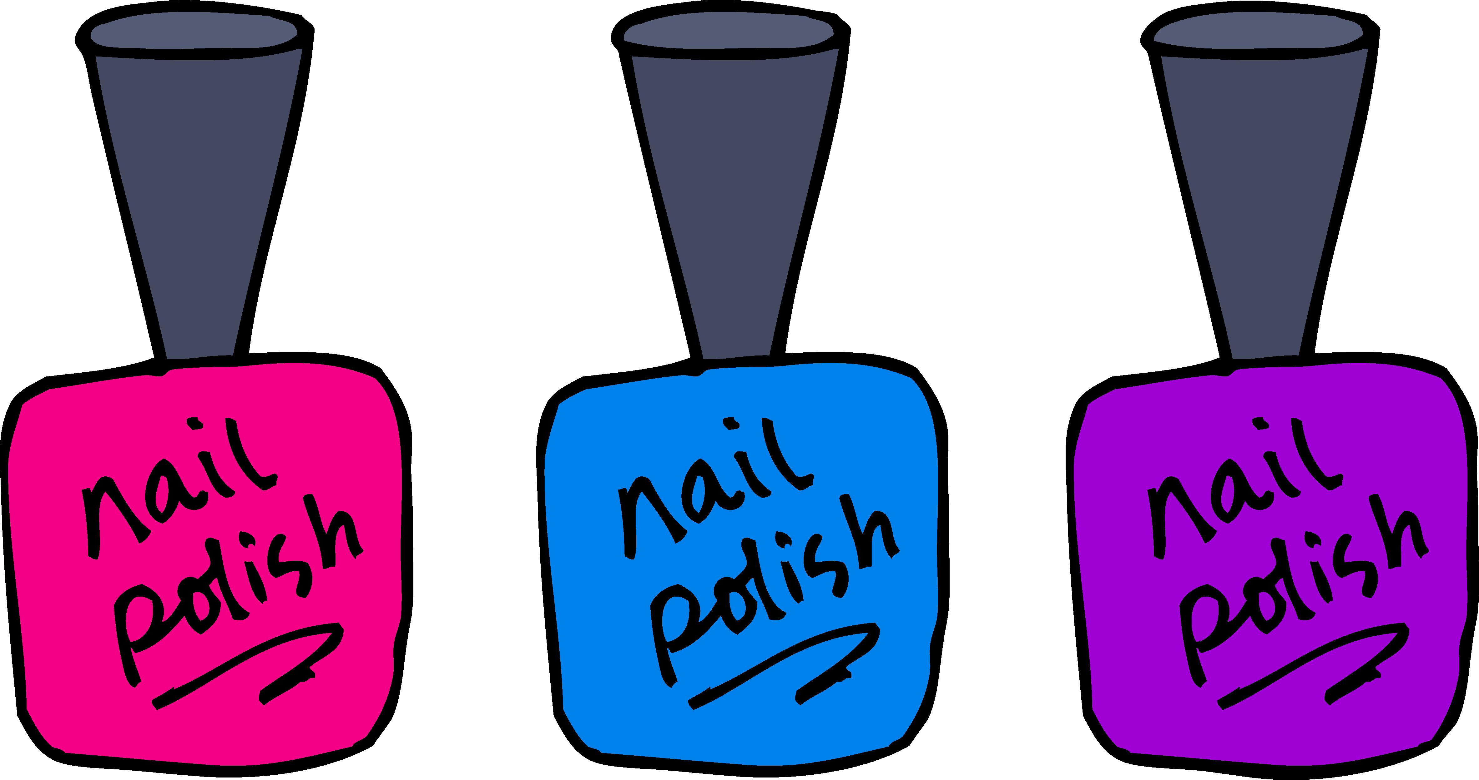 Nail polish clipart free.