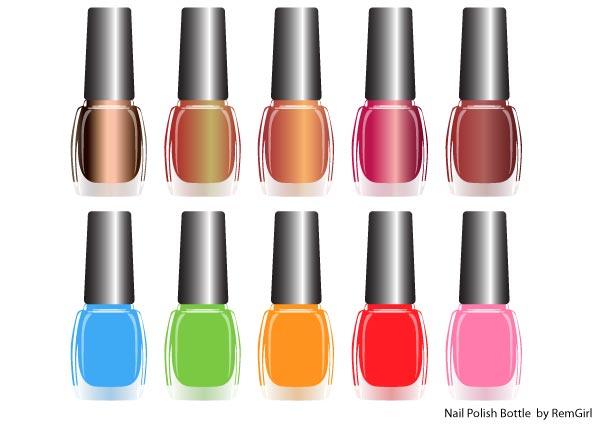 Nail polish clipart vector free.