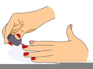 Nail Painting Clipart.