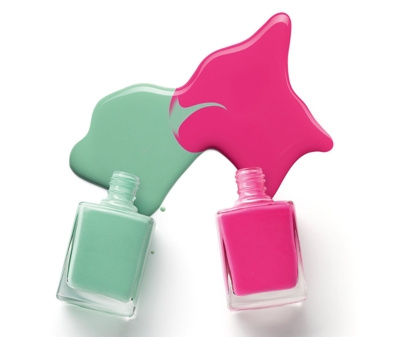 Clipart of the Dripping Nail Polish Bottles free image.