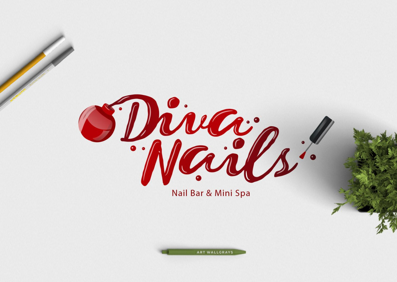 Nail Polish logo, Photography logo, Premade logo, Pre.