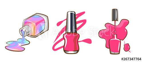 nail polish vector clipart graphic design.