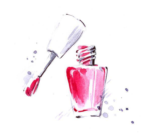 Nail polish vector art illustration in 2019.