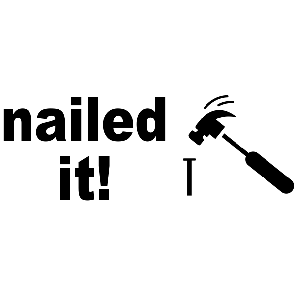 Nailed It! Rubber Stamp.