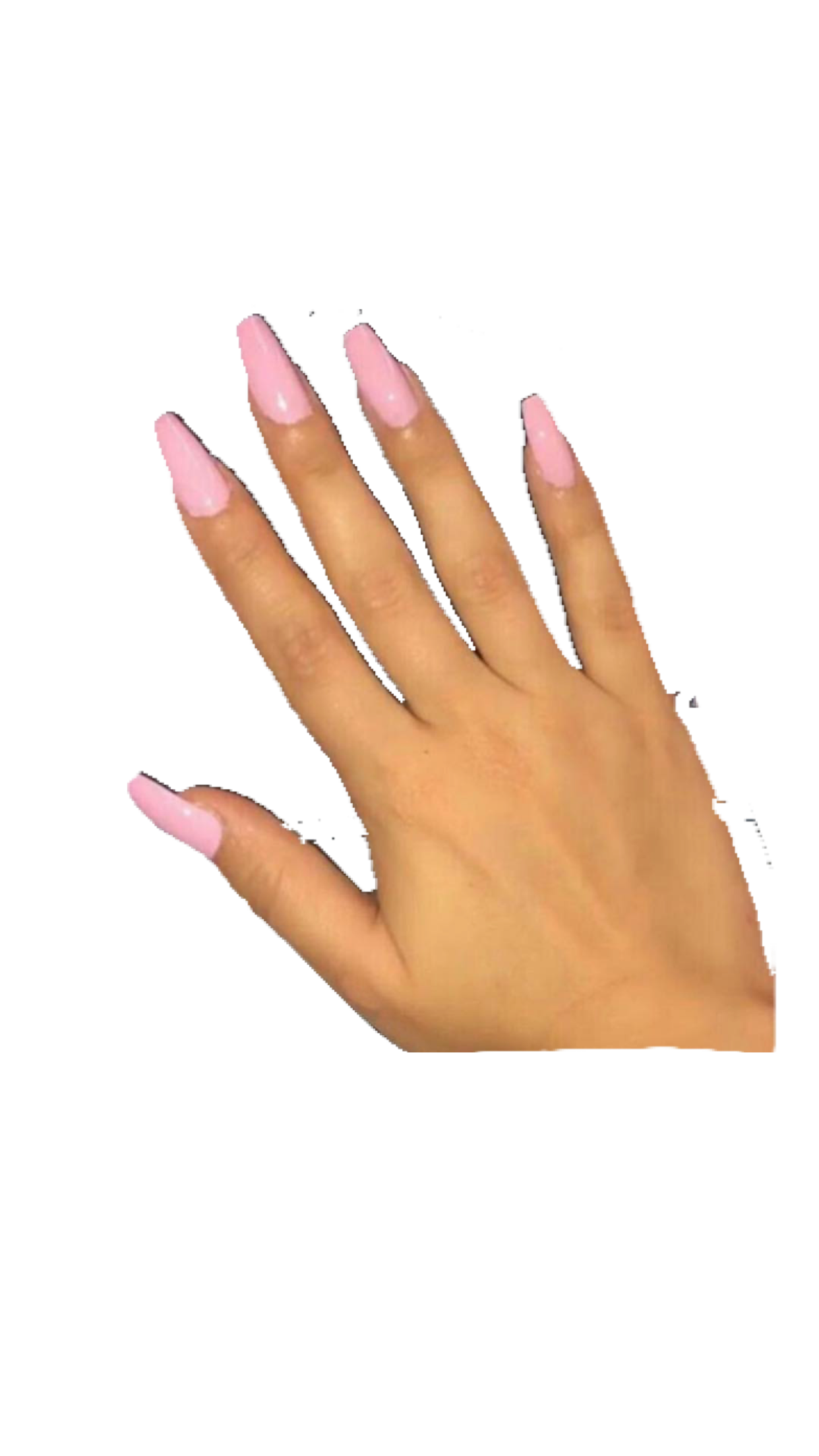 Tan pink nails hand Polyvore moodboard filler.