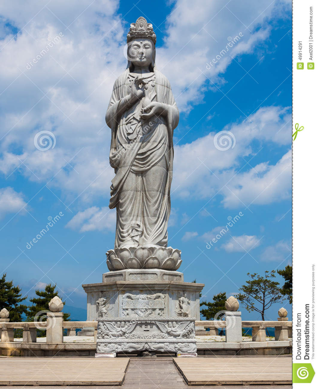 Statue In Naksansa Temple In Sokcho, South Korea. Stock Photo.