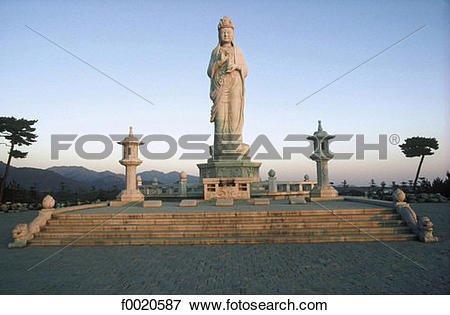 Picture of South Korea, Naksan Sa Monastery, Buddha of Mercy.