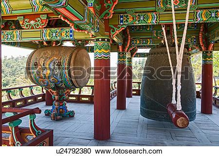 Stock Photography of Bell at the Naksansa Temple, Naksansa.
