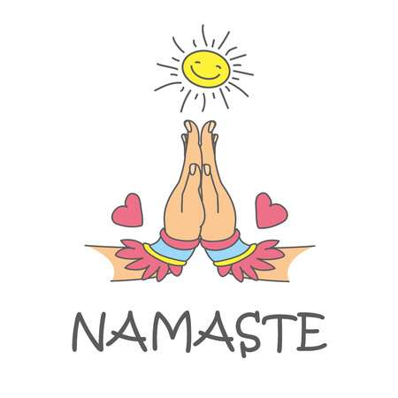 1,427 Namaste Stock Illustrations, Cliparts And Royalty Free.