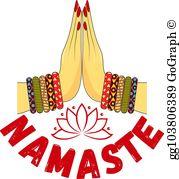 Namaste Clip Art.