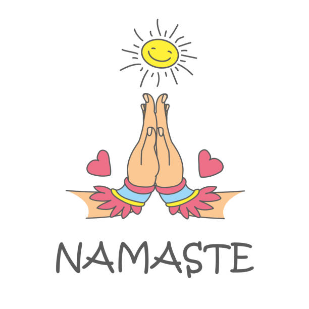 Best Namaste Illustrations, Royalty.