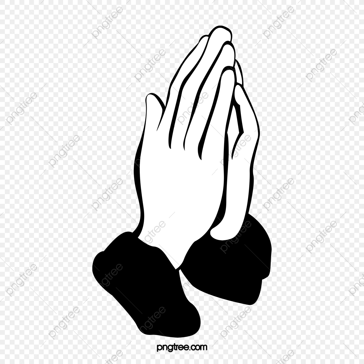 Namaste, Pray, Cartoon Hand Drawing PNG Transparent Clipart.