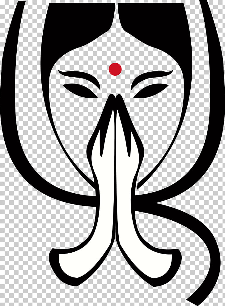 Namaste Symbol Om Yoga Greeting, symbol, woman praying PNG.