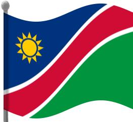Namibia Flag Waving Clip Art Download.