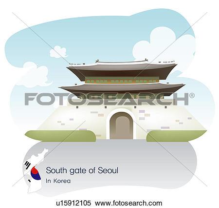 Stock Illustration of south Korea, tourism, sightseeing, national.