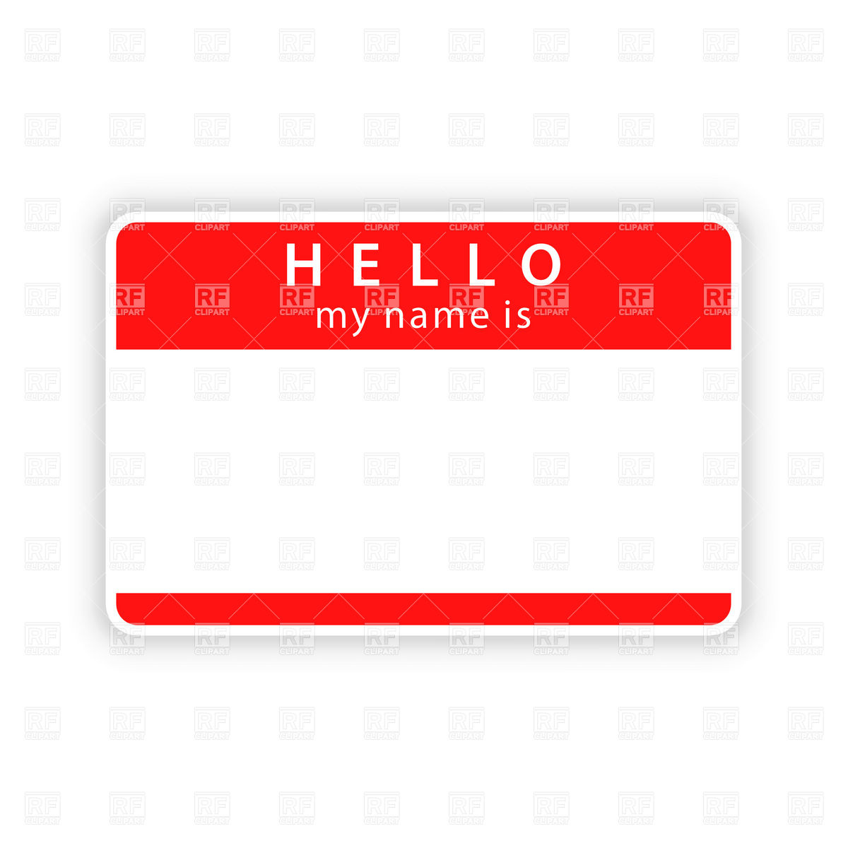Name badge clipart.