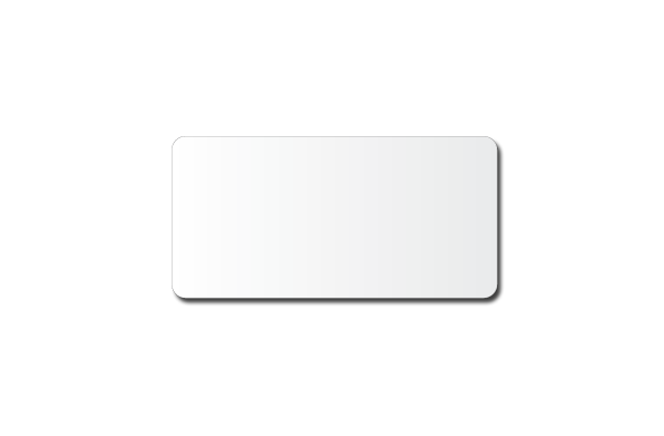 "3"" x 1.5"" White Plastic Custom Printed Name Tag."