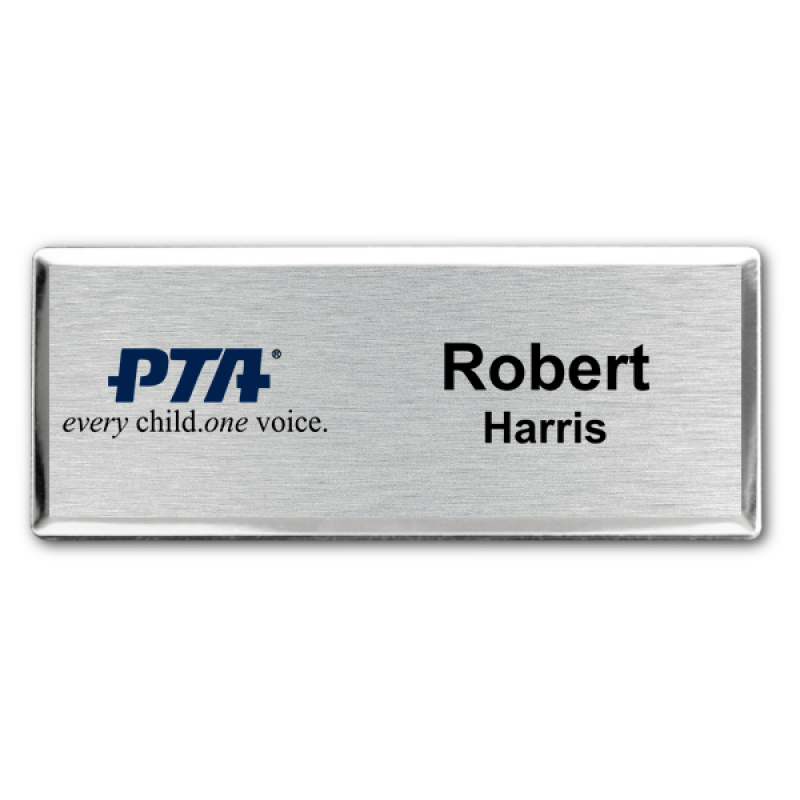 PTA Fancy Small Name Tag.