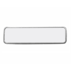 Blank Metal Name Badge with Pin.