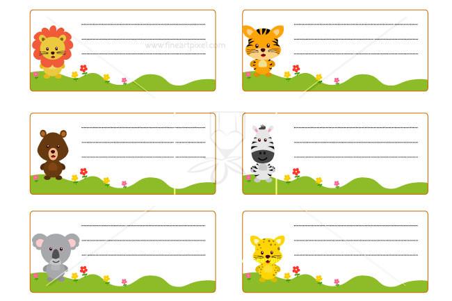 Children name card.