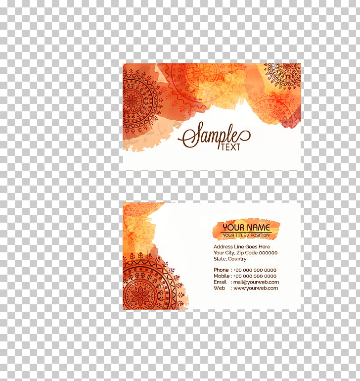 Business card Visiting card, business card, Sample Text card.