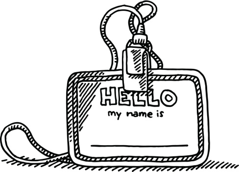 Name tag clipart.