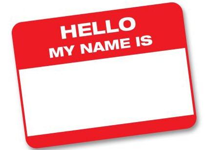Name clip art.
