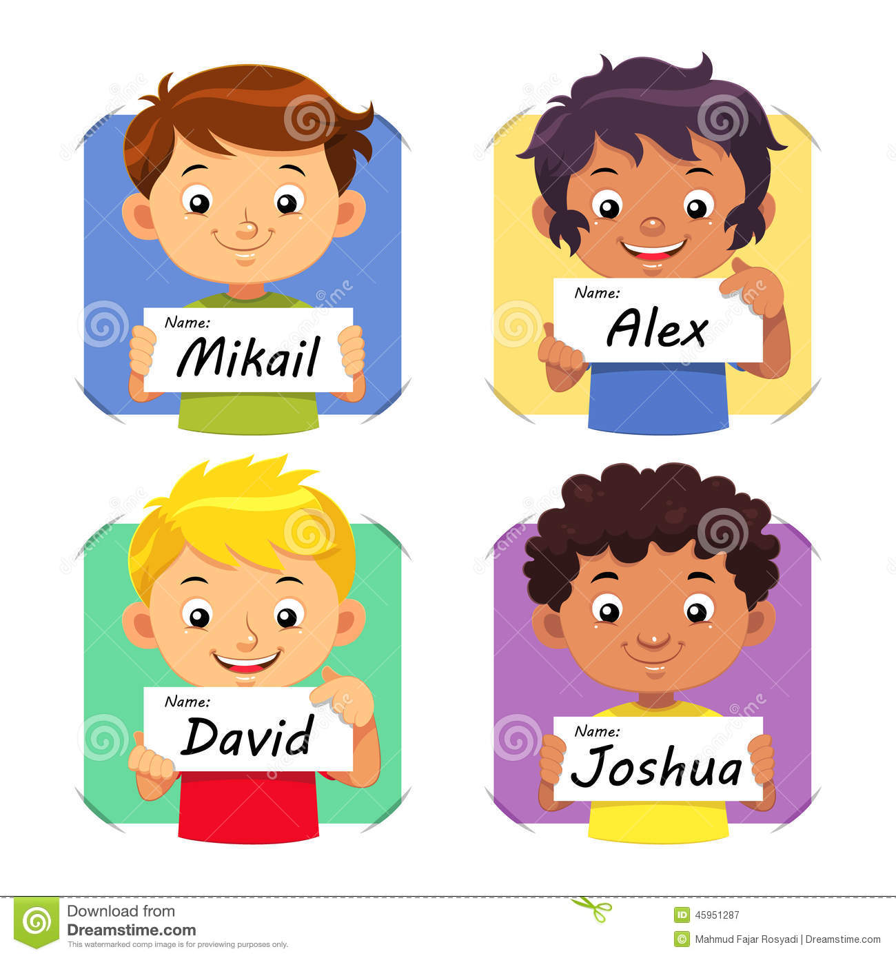 Names Clipart For Kids.