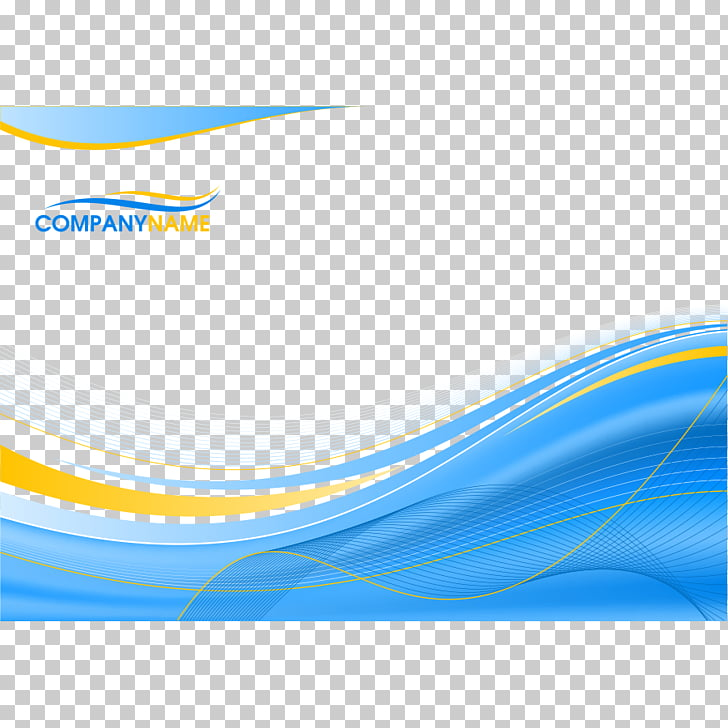 Blue background with wavy lines, Company Name logo PNG.