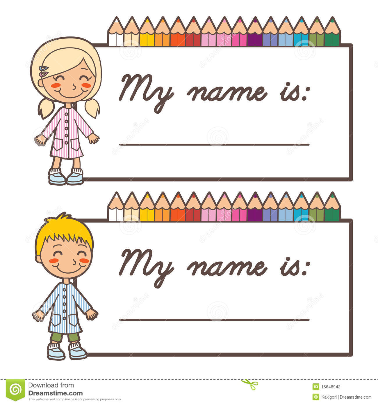 Name Card Clipart.