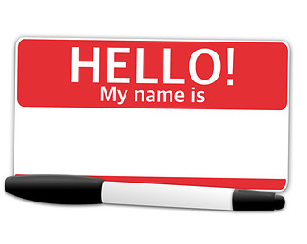 264 Name Tag free clipart.