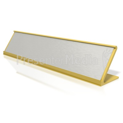 Blank Identification Name Plate.