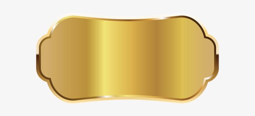 Golden Label Png Clipart Image.