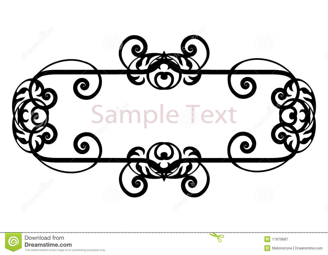 Name Plate Clipart Black And White.