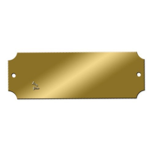 Blank Brass Name Plate.