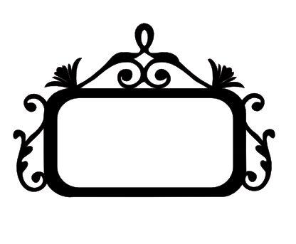 Swirl Flourish Name Plate.